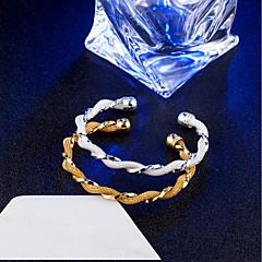 cheap Bracelets-Women's Bangles Cuff Bracelet Vintage Elegant Titanium Steel 18K Gold Plated Circle Infinity Jewelry For Wedding Engagement Daily
