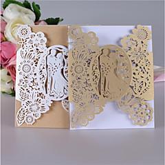 זול הזמנות לחתונה-שער כפול הזמנות לחתונה כרטיסי הזמנה כרטיסי מענה לדוגמא הזמנה כרטיסים למסיבת אירוסין ערכות הזמנות סגנון פורמלי סגנון מודרני סגנון כלה וחתן