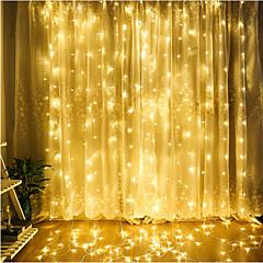4m Ljusslingor 300 lysdioder Dip LED Varmvit / Kallvit / Blå Kopplingsbar 220-240 V 1st / IP65