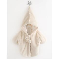 billige Jakker og frakker til piger-Baby Pige Afslappet Ensfarvet 3/4-ærmer Bomuld dun- og bomuldsforet