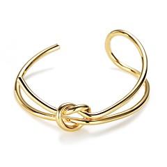 billige Fine smykker-Dame Manchetarmbånd - Mode Europæisk Uregelmæssig Guld Armbånd Til Daglig Stævnemøde