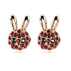 cheap Earrings-Women's Stud Earrings Animals Sweet Zircon Alloy Fox Jewelry Other Daily Costume Jewelry