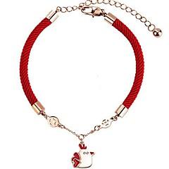 billige Fine smykker-Dame Kæde & Lænkearmbånd - Dyr Simple Rød Armbånd Til Gave Stævnemøde