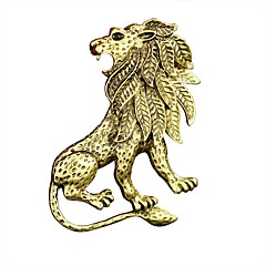 Men's Brooches Metallic Vintage Alloy Animal Shape Jewelry For Daily Casual