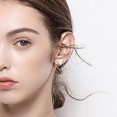 preiswerte Ohrringe-Damen versilbert vergoldet Ohrstecker - Einfach Grundlegend Modisch Gold Geometrische Form Ohrringe Für Alltag Verabredung