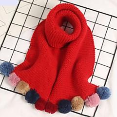 baratos Acessórios para Crianças-Cachecóis Inverno Suéter Vermelho Azul Claro