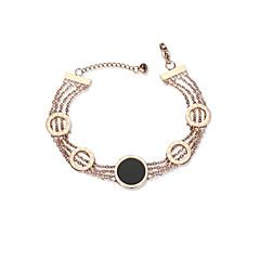 billige Fine smykker-Dame Kæde & Lænkearmbånd - Europæisk, Mode Armbånd Rose Guld Til Daglig / Stævnemøde