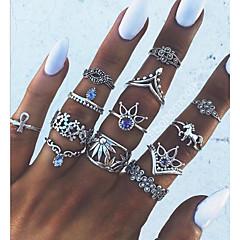levne Fashion Ring-Dámské Geometrické Boxer - Slitina Prohlášení, dámy, Vintage Šperky Stříbrná Pro Denní Jedna velikost