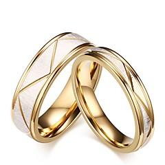 erkek kadın yüzük seti nişan yüzüğü klasik zarif titanyum çelik daire takı düğün akşam partisi için