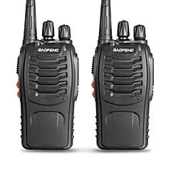 billige Walkie-talkies-BAOFENG 2 Pcs BF-888S Håndholdt Programmeringskabel / Programmerbar med datasoftware / Lader og adapter 3-5 km 3-5 km 5 W Walkie Talkie Toveis radio / 400-470 mHz / VOX / Pausetimer / CTCSS / CDCSS