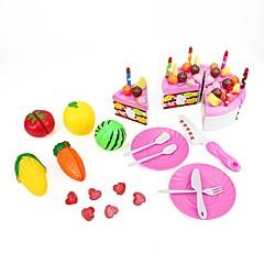Tue so als ob du spielst Kinderkochgeräte Spielzeuge Kreisförmig friut Essen & Trinken Jungen Mädchen Stücke