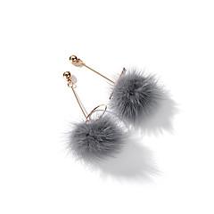 billige Fine smykker-Dame Bold 2stk Stangøreringe / Dråbeøreringe - Mode / Koreansk Hvid / Grå Øreringe Til Aftenselskab / I-byen-tøj