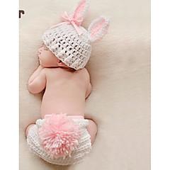 billige Sett med babyklær-Baby Pige Simple Daglig Ensfarvet Uden ærmer Bambus Fiber Tøjsæt Hvid