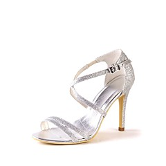 olcso -Női Cipő Csillogó flitter Tavasz Nyár Magasított talpú Esküvői cipők Tűsarok Köröm Glitter mert Esküvő Party és Estélyi Ezüst