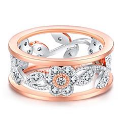 お買い得  指輪-女性用 バンドリング キュービックジルコニア ラインストーン ヴィンテージ Elegant ローズゴールド オーストリアクリスタル 無限大 コスチュームジュエリー 結婚式 婚約 式典
