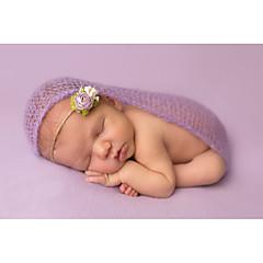 billige Sett med babyklær-Baby Pige Ensfarvet Uden ærmer Bomuld Tøjsæt