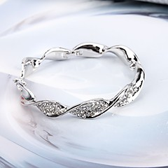 cheap -Women's Bangles Rhinestone Simple Fashion European Alloy Twist Circle Jewelry Party