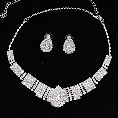 cheap Necklaces-Women's Rhinestone Choker Necklace - Fashion Drop Silver Necklace For Wedding Party