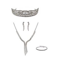 cheap Jewelry Sets-Women's Rhinestone Imitation Diamond Jewelry Set Body Jewelry 1 Necklace Earrings - Fashion European Line White Tiaras Bridal Jewelry Sets
