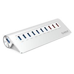 preiswerte USB Hubs & Switches-ORICO 10 Häfen USB-Hub USB 3.0 High-Speed Eingangsschutz Spannungsüberwachung Daten-Hub