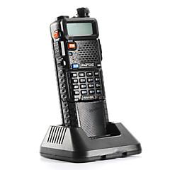 billige Walkie-talkies-BAOFENG Håndholdt / Dobbelt bånd Nød Alarm / Programmeringskabel / Programmerbar med datasoftware 3-5 km 3-5 km 128 5 W Walkie Talkie Toveis radio