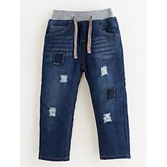 billige Drengebukser-Drenge Bukser Ensfarvet Vinter Blå