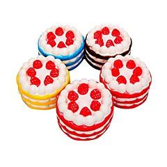 tanie Odstresowywacze-LT.Squishies / Squishy Zabawki do ściskania Okrągły Tort Truskawkowy Zabawki biurkowe Stres i niepokój Relief Zabawki dekompresyjne