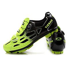 billige Sykkelsko-Tiebao® Voksne Mountain Bike-sko Nylon Anti-Skli, Demping, Ventilasjon Sykling Svart / Grønn / Svart / Blå / Svart / Oransje Herre