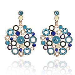 Žene Viseće naušnice Umjetno drago kamenje Moda Smola Imitacija dijamanta Legura Circle Shape Jewelry Večer stranka Izlasci