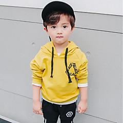 baratos Roupas de Meninos-Para Meninos Moleton & Blusa de Frio Sólido Primavera Todas as Estações Algodão Manga Longa Simples Preto Amarelo