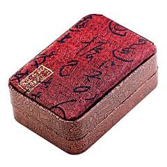 billige Smykkeemballage og displays-Smykkeskrin Manchetknapper Box Kvadrat Skål Klæde Stof