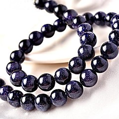 tanie Koraliki i tworzenie biżuterii-Biżuteria DIY 46 szt Korálky Kryształ Niebieski Zaokrąglanie Koralik 0.8 cm majsterkowanie Naszyjniki Bransoletki