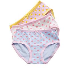 billige Undertøj og sokker til piger-3 Dele Børn Pige Simple Prikker / Stribet / Tegneserie Bomuld Undertøj og strømper Blå