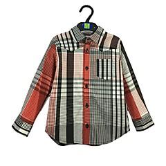 baratos Roupas de Meninos-Bébé Para Meninos Simples Listrado Manga Longa Algodão Camisa