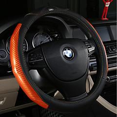 billige Rattovertrekk til bilen-Rattovertrekk til bilen Karbonfiber 38 cm Brun / Svart / Oransje For Universell