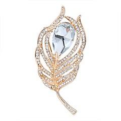 billige Motebrosjer-Dame Kubisk Zirkonium geometriske Nåler - Krystall, Zirkonium Blad Formet damer, Grunnleggende Brosje Smykker Gull / Sølv Til Graduation / Nyttår