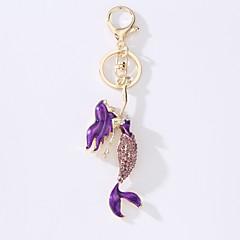 tanie Łańcuszki do kluczy-Łańcuszek do kluczy Biżuteria Black Purple Light Blue Syrena Stop Prosty Modny Prezent Codzienny Damskie