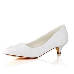 olcso -Női Cipő Streccs szatén Tavasz Ősz Magasított talpú Esküvői cipők Cicasarok Kerek orrú mert Esküvő Party és Estélyi Fehér Kristály