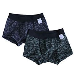 billige Undertøj og sokker til drenge-2stk Børn Drenge Simple Ternet / camouflage Bomuld Undertøj og strømper Sort