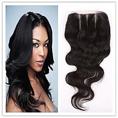 billiga Peruker och hårförlängning-Klassisk 3.5x4 Stängning Äkta hår 3 Del Hög kvalitet Dagligen