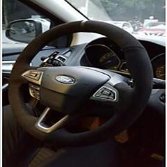 billige Rattovertrekk til bilen-Rattovertrekk til bilen ekte lær 38 cm Svart For Universell / Ford Mondeo / Kuga / Edge