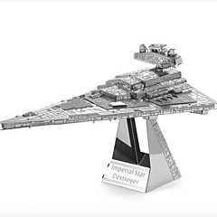cheap -Imperial Star Destroyer 3D Puzzles Jigsaw Puzzle Metal Puzzles Model Building Kit 1pcs Aircraft Carrier Destroyer 3D Furnishing Articles