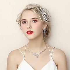 baratos Conjuntos de Bijuteria-Mulheres Conjunto de jóias - Fashion Incluir Prata Para Casamento / Noivado