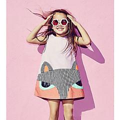 billige Babykjoler-Baby Pige Simple Daglig Ensfarvet / Dyr Uden ærmer Normal Bomuld / Hør / Bambus Fiber Kjole Sort 100