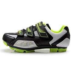 billige Sykkelsko-Tiebao® Voksne Mountain Bike-sko Karbonfiber Anti-Skli, Pustende Sykling Grønn og Svart Herre
