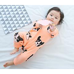 billige Babytøj-Baby Pige En del Afslappet/Hverdag Maleri, Bomuld Forår Langærmet Boutique Blå Lyserød