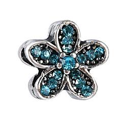 billige Perler og smykkemaking-DIY Smykker 10 stk Perler Legering Lilla Perle Rosa Rød Lyseblå Marineblå Blomst Perlene 0.45 cm DIY Halskjeder Armbånd