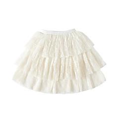 お買い得  女児 スカート-女の子 ソリッド コットン 竹繊維 スパンデックス スカート 春 キュート 活発的 ホワイト ブラック グレー