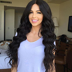 cheap Wigs & Hair Pieces-Unprocessed Human Hair Glueless Lace Front Wig Brazilian Hair Loose Wave Wig 130% Density Natural Hairline African American Wig Women's Long Human Hair Lace Wig Doubleleafwig