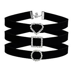 Γυναικεία Κολιέ Τσόκερ Καρδιά κυρίες Χαριτωμένο Μαύρο Κολιέ Κοσμήματα 3 Για  Καθημερινά Γραφείο   Καριέρα c287b0681f9